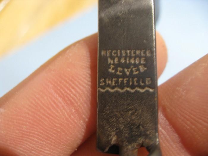Gambles British Registered design Corkscrew.