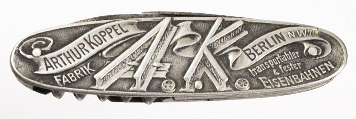 German knife ca 1895 advertising ARTHUR KOPPEL