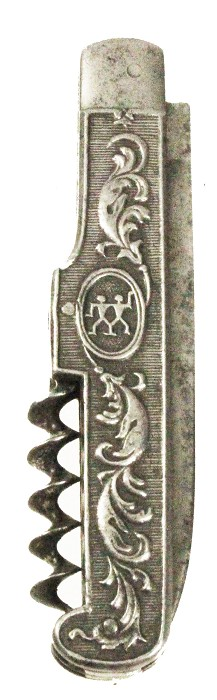 German Art Nouveau knife with Henckels TWIN logo marked HENC