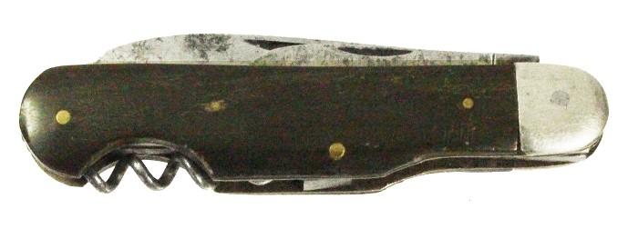 Swedish knife, cow horn scales marked E. G. OLSON ESKILSTUNA