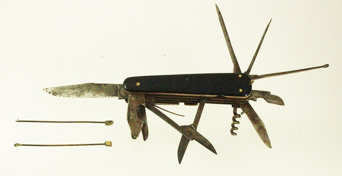 German knife with 12 tools marked JOSEPH FEIST SOLINGEN