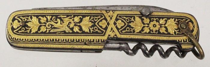 Spanish Toledo knife with gold inlay marked I PAYA