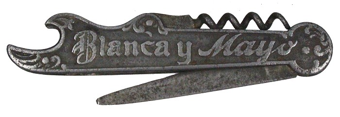 German knife made for advertising in Argentina, tang marked