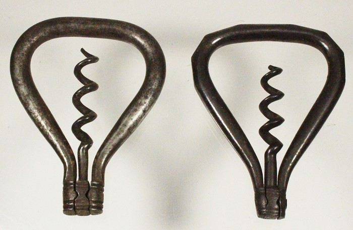 Two early bows, one faceted, one triangel