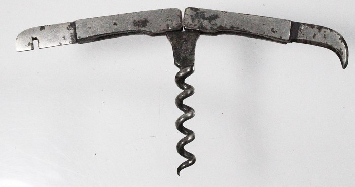 A folding pocket corkscrew marked D.R G.M. No. 54268