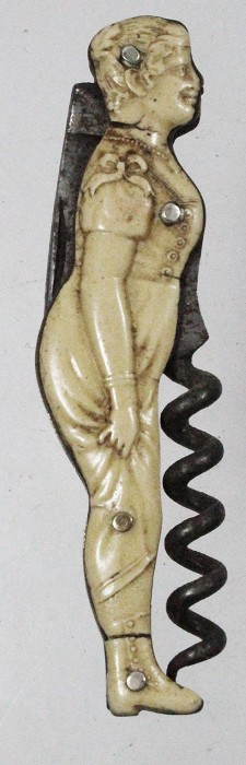 German lady-shaped knife with celluloid scales SOUVENIR
