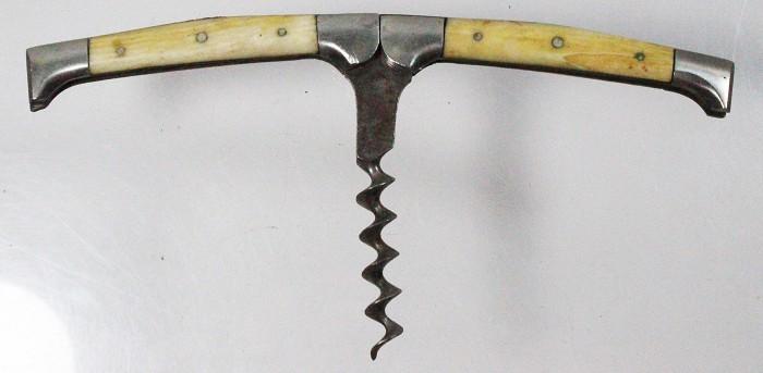 Folding, German pocket corkscrew with bone scales (rare)
