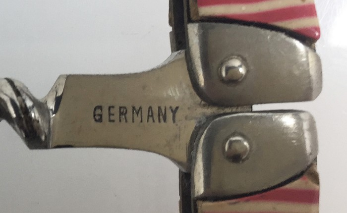Ladies legs marked GERMANY, red/white