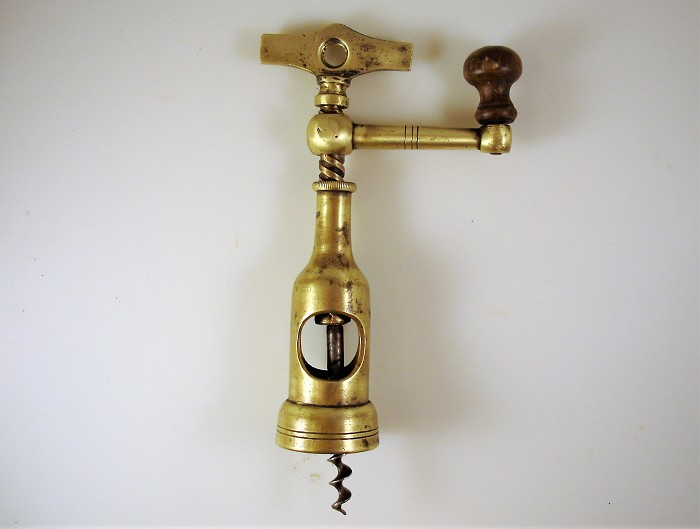 Italian Coffee Grinder Corkscrew rare version, late 1800s