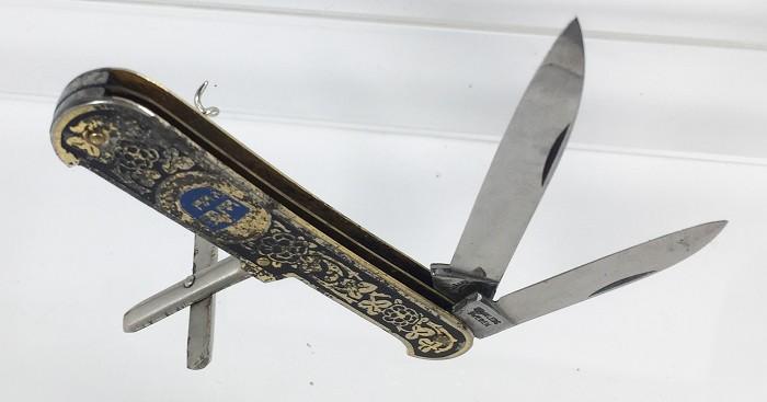 Nicely, etched, Swedish knife marked ESKILSTUNA