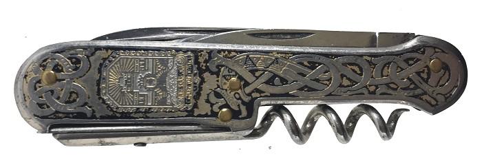 Swedish pocket knife, etched, mint, Hammesfahr's device