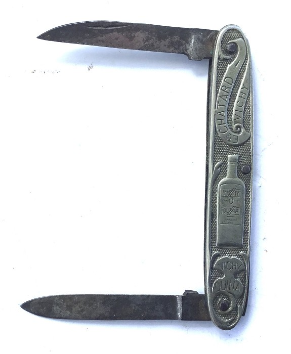 FRENCH TINY KNIFE VICHY QUINA ETS CHATARD VICHY DELICE