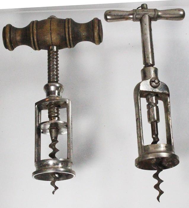 Two German corkscrews, perpetual and Parizer Krätzer