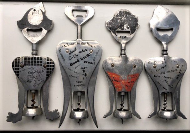 Collection of Aluminium figural double levers
