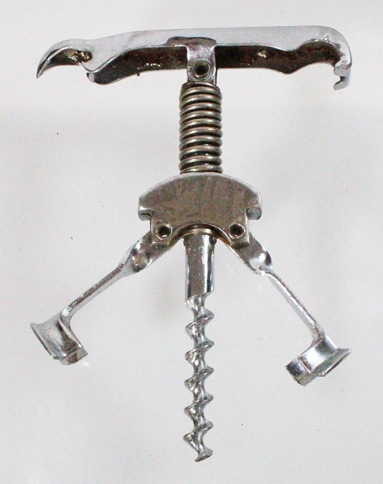 Chrome plated Columbus with folding handle and cap lifter