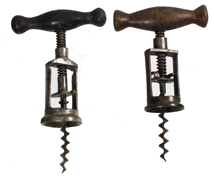 Two Corkscrews with spring assist and locking device