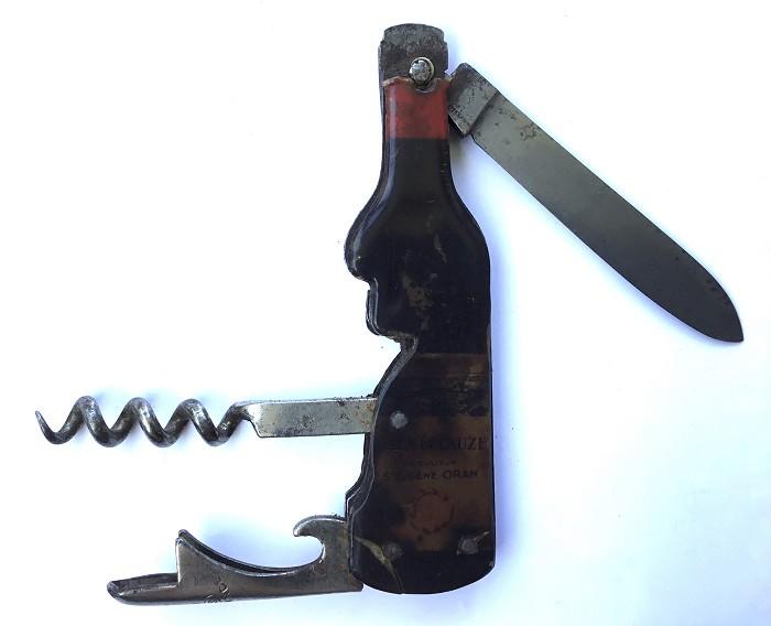FRENCH BOTTLE KNIFE SENECLAUZE A.SARRY THIERS DAMAGE