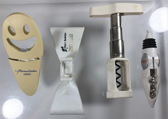 4 contemporary corkscrews few registered Geschmacks musteste