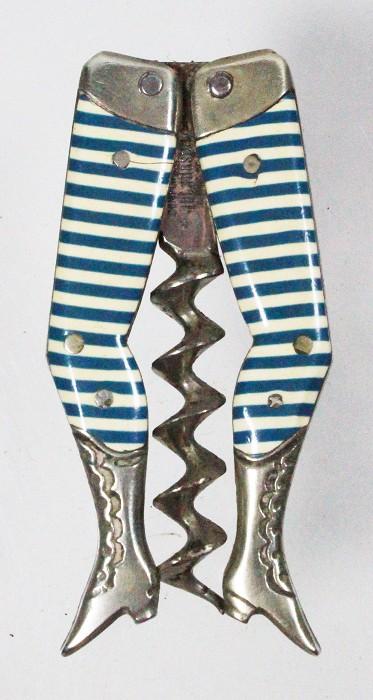 Rarer, early Reimer's ladies legs, before 1892, blue/white