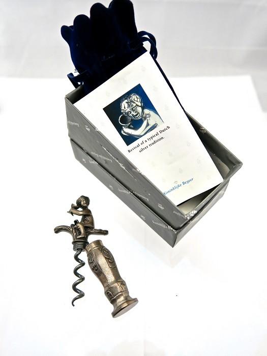 Dutch Silver Cherub Boy Corkscrew Orig Box