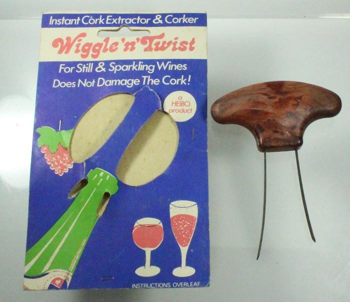 WIGGLE 'N TWIST CORK EXTRACTOR & original display