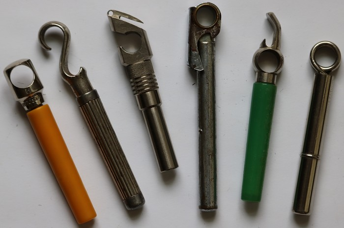A collection of six English, German & American Picnic Screws