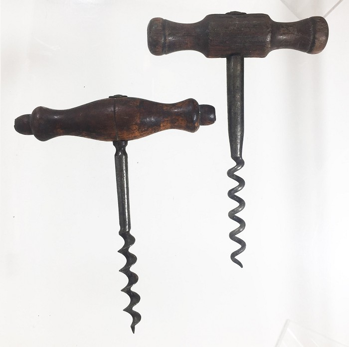 Two German T corkscrews