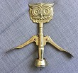 CORKSCREW LARGE OWL HEAD LEVER CORKSCREW ACC CROM MADE ITALY