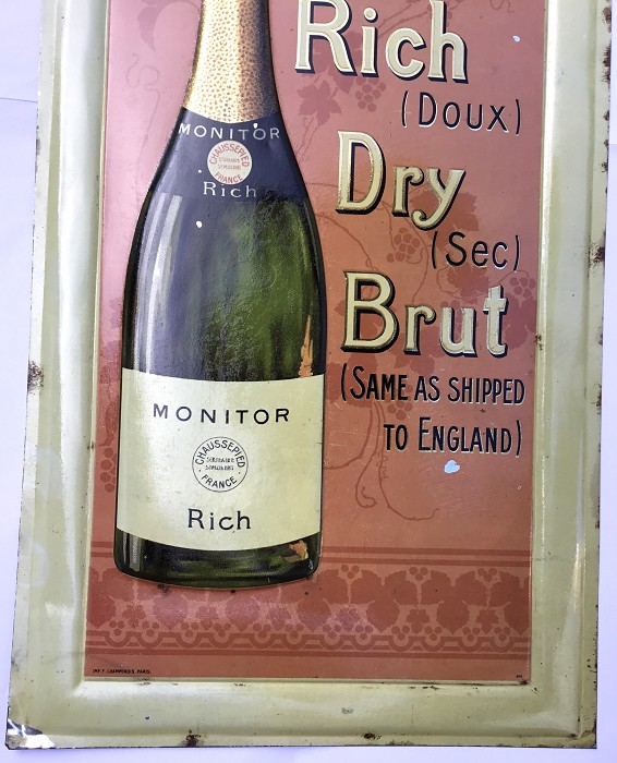 FRENCH PLATE CHAMPAGNE MONITOR DRY RICH CHAUSSEPIED