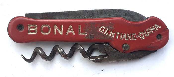 FRENCH CORKSCREW KNIFE BONAL GENTIANE QUINA MDE IN FRANCE AS