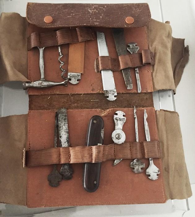 etui with corkscrew, tools marked BONSA