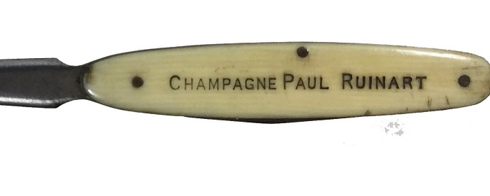 French knife and letter opener CHAMPAGNE PAUL RUINART REIMS