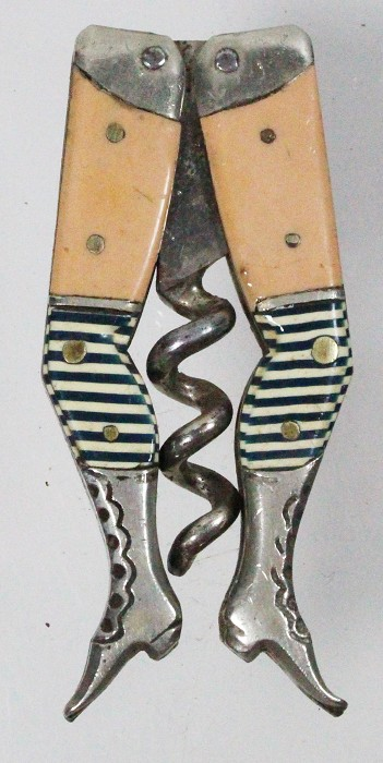 Steinfeld and Reimer's ladies legs bare thighs / blue/white