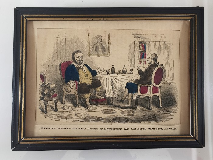 19th century print with frame