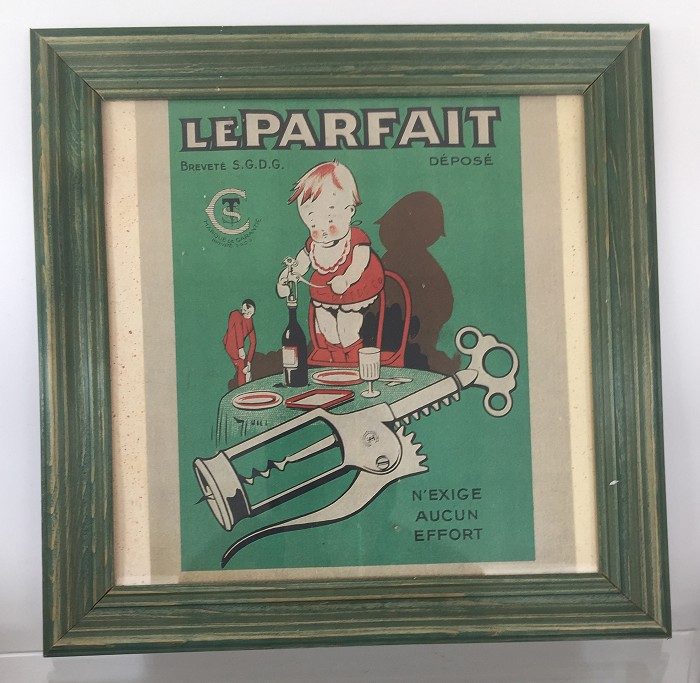 French print with frame showing Le Parfait