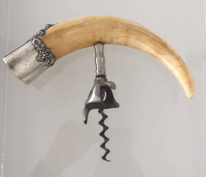 US Walker patent with tusk handle, silver cap, marked STERLI